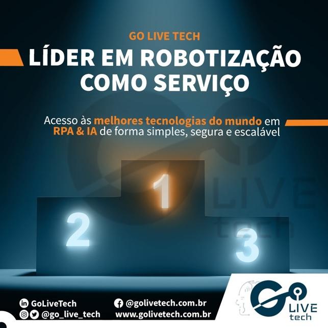 RaaS – Robotic As A Service Da Go Live Tech – Solução Estratégica End-to-end De Automação